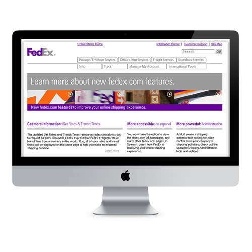 Fedex: Microsite / Brochure