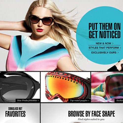 Sunglass Hut: Website